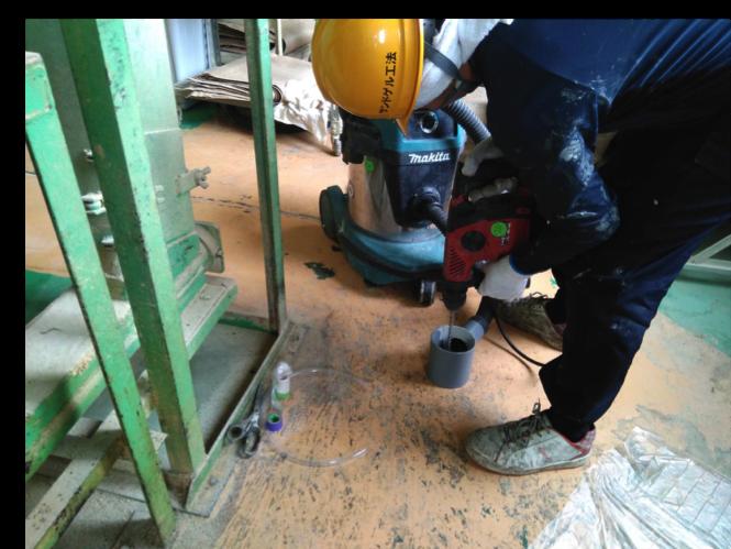 サンドゲル工法、コンクリート床下、地盤沈下補強工事ならお任せください
